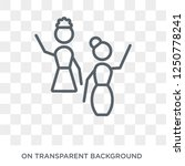 raise hand icon. trendy flat... | Shutterstock .eps vector #1250778241