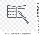 homework icon. trendy flat...   Shutterstock .eps vector #1250778511
