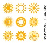 sun icon set | Shutterstock .eps vector #125078354