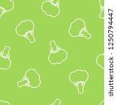broccoli silhouette seamless... | Shutterstock .eps vector #1250794447
