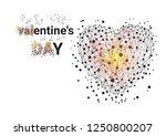 bright valentine day background.... | Shutterstock .eps vector #1250800207