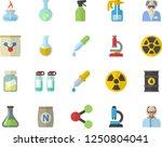 color flat icon set fertilizer... | Shutterstock .eps vector #1250804041