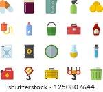 color flat icon set hook flat... | Shutterstock .eps vector #1250807644