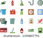 color flat icon set pipes flat... | Shutterstock .eps vector #1250807791