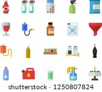 color flat icon set spice flat... | Shutterstock .eps vector #1250807824