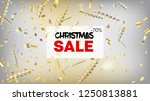 sale realistic gold tinsel... | Shutterstock .eps vector #1250813881
