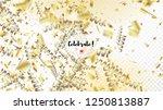 modern realistic gold tinsel... | Shutterstock .eps vector #1250813887