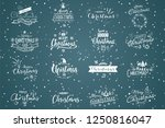 merry christmas. happy new year ... | Shutterstock .eps vector #1250816047