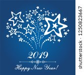happy new year 2019  greeting... | Shutterstock .eps vector #1250823667