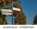 Blank Signpost In Different...