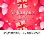 valentines day sale background... | Shutterstock .eps vector #1250836924