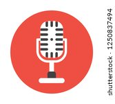 microphone flat icon. you can...