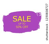 sale 50  off sign over art... | Shutterstock .eps vector #1250838727