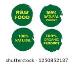 100  organic  bio  eco  natural ... | Shutterstock .eps vector #1250852137
