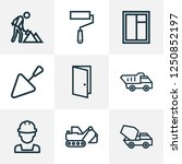 construction icons line style... | Shutterstock .eps vector #1250852197