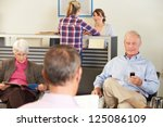patients in doctor's waiting... | Shutterstock . vector #125086109