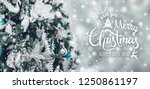 christmas tree background and... | Shutterstock . vector #1250861197
