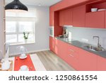 kitchen interior in light... | Shutterstock . vector #1250861554