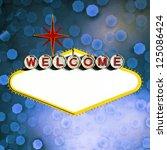 blank welcome to las vegas neon ... | Shutterstock . vector #125086424