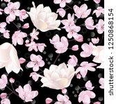 vector botanical seamless... | Shutterstock .eps vector #1250868154