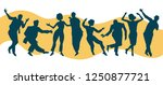 silhouettes of men and women... | Shutterstock .eps vector #1250877721