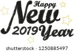 happy new 2019 year. holiday... | Shutterstock .eps vector #1250885497