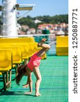 girl doing cartwheels on...   Shutterstock . vector #1250887771