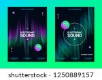 techno music poster. wave flyer ... | Shutterstock .eps vector #1250889157