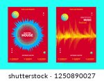 electronic festival music flyer.... | Shutterstock .eps vector #1250890027