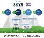 skyr icelandic yoghurt vector   ... | Shutterstock .eps vector #1250890387