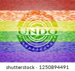 undo on mosaic background with... | Shutterstock .eps vector #1250894491