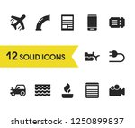 service icons set with site ...