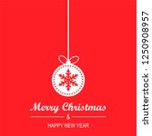 christmas and new year greeting ... | Shutterstock .eps vector #1250908957