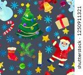 funny cartoon christmas... | Shutterstock .eps vector #1250911321