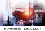 logistics and transportation of ... | Shutterstock . vector #1250913334