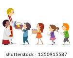 illustration of stickman kids... | Shutterstock .eps vector #1250915587