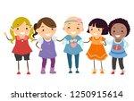 illustration of stickman kids... | Shutterstock .eps vector #1250915614