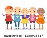 illustration of bald stickman... | Shutterstock .eps vector #1250915617