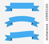 set of 3 blue ribbons banners.... | Shutterstock . vector #1250921101