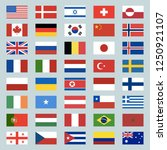 set of 40 world flags icons.... | Shutterstock . vector #1250921107