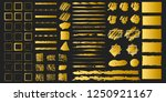 big set of golden grunge hand... | Shutterstock .eps vector #1250921167