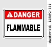"plate  ""danger. flammable"".... 