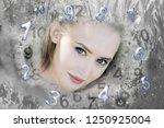 winter queen and numerology | Shutterstock . vector #1250925004