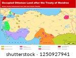 occupied ottoman land after... | Shutterstock .eps vector #1250927941