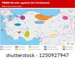 turkey   the ottoman dynasty... | Shutterstock .eps vector #1250927947