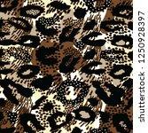 leopard pattern design  vector... | Shutterstock .eps vector #1250928397