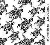 black white seamless pattern... | Shutterstock .eps vector #1250928877