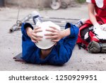 first aid after workplace...   Shutterstock . vector #1250929951