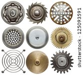 Round Metal Objects. Isolated...