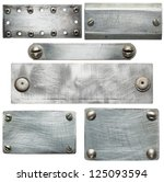 metal plates with screws and... | Shutterstock . vector #125093594
